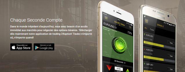 Trading mobile 24option