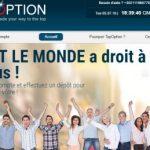 TopOption nouvelle plateforme