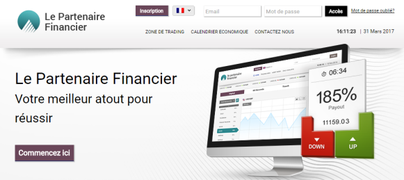 Le Partenaire Financier : arnaque au trading