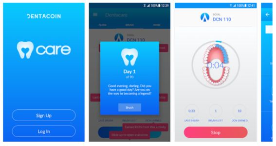Dentacare : application développée par Dentacoin