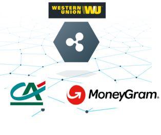 Ripple partenariats avec le Crédit Agricole, Western Union et MoneyGram