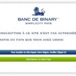 banc de binary ferme