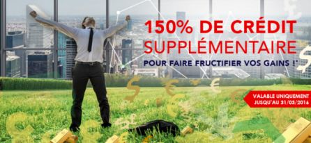 Bonus de 150% OptionWeb